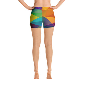 Woman's Multi Color Spandex Shorts - Athletic Inspirations Apparel