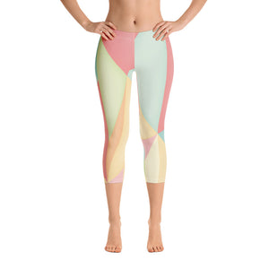 Woman's Colorful Triangle Graphic Capri Leggings - Athletic Inspirations Apparel