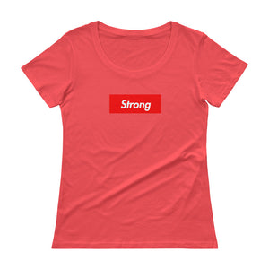 Strong Ladies' Box Logo Scoop neck T-Shirt (see additional colors) - Athletic Inspirations Apparel