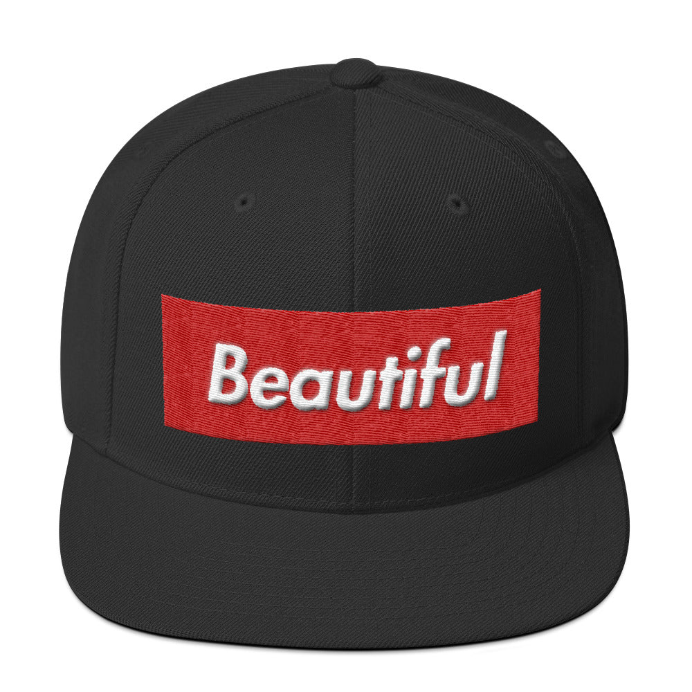 Beautiful Box Logo Snapback Hat