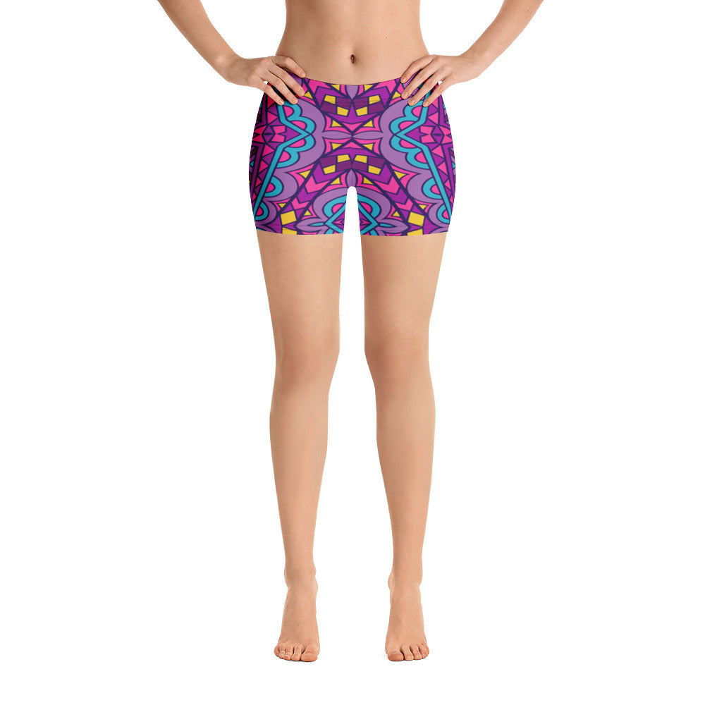 Woman's Purple Haze Spandex Shorts - Athletic Inspirations Apparel