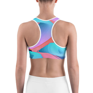 Women's Colorful Paint Stroke Sports bra - Athletic Inspirations Apparel
