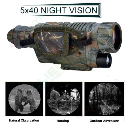 5X40 Digital Infrared Night Vision Goggle Monocular 200m Range Video/Photo