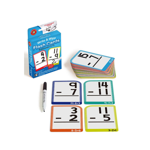 Write and Wipe Flash Cards Subtraction 0-15