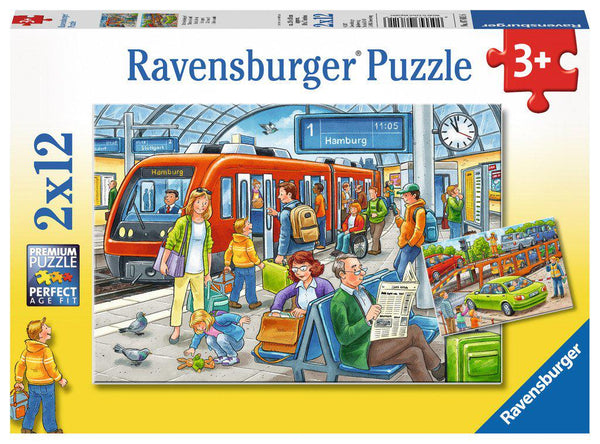 Ravensburger 2 x 12pc Puzzles All Aboard!-Ravensburger-booksrusandmore