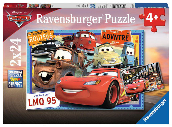 Ravensburger 2 x 24pc Puzzles Disney Cars-Ravensburger-booksrusandmore