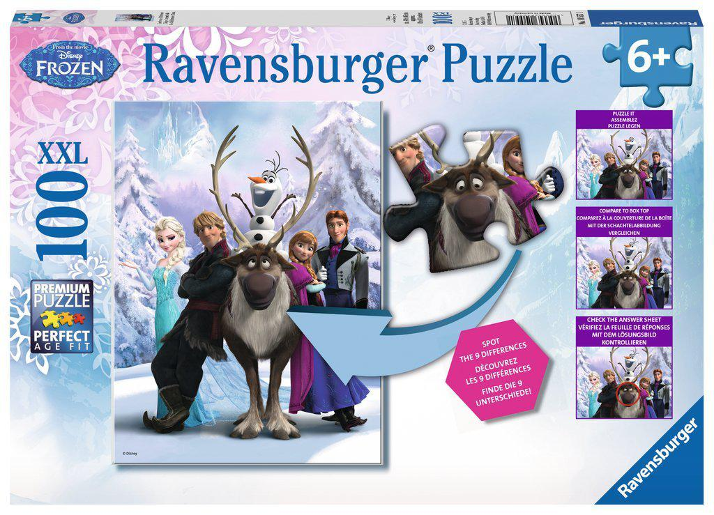 Ravensburger 100pc Puzzle The Frozen Difference-Ravensburger-booksrusandmore
