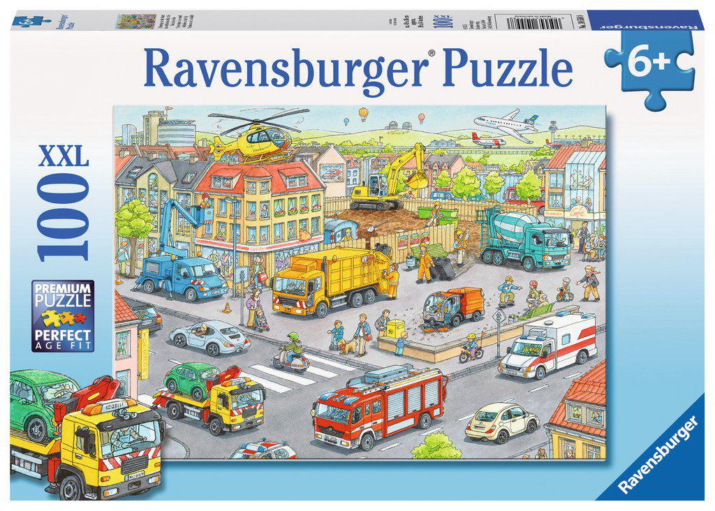 Ravensburger 100pc Puzzle Vehicles in the City-Ravensburger-booksrusandmore
