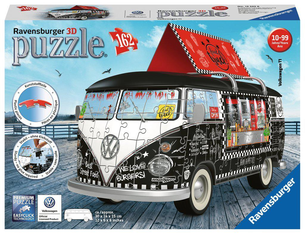 Ravensburger 3D Puzzle 162pc Volkswagen T1 Food Truck-Ravensburger-booksrusandmore