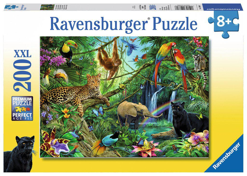 Ravensburger 200pc Puzzle Animals in the Jungle-Ravensburger-booksrusandmore