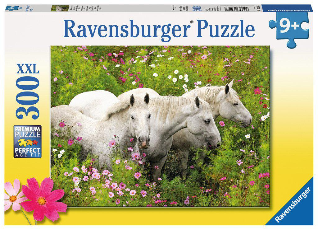 Ravensburger 300pc XXL Puzzle Horses in a field of flowers-Ravensburger-booksrusandmore