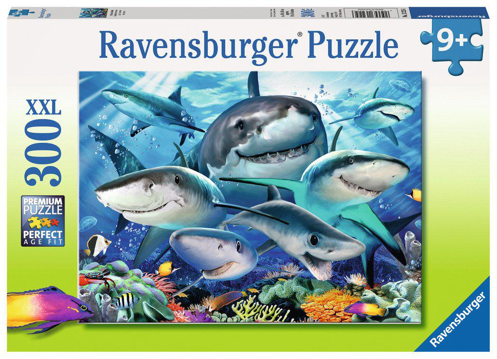 Ravensburger 300pc Puzzle Smiling Sharks-Ravensburger-booksrusandmore