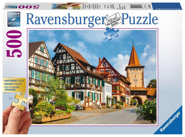 Ravensburger 500pc Large Format Puzzle Gengenbach Germany-Ravensburger-booksrusandmore