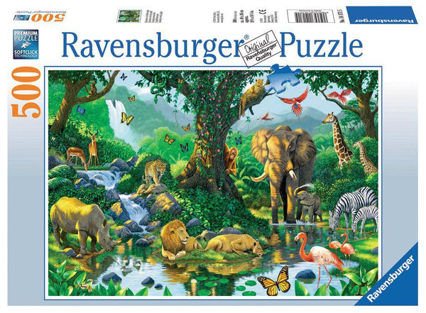 Ravensburger 500pc Puzzle Jungle Harmony-Modern Brands-booksrusandmore