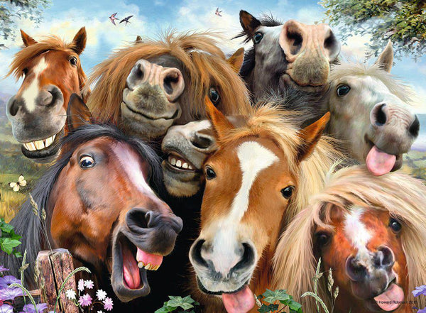 Ravensburger 500pc Puzzle Horsing Around Selfies-Modern Brands-booksrusandmore