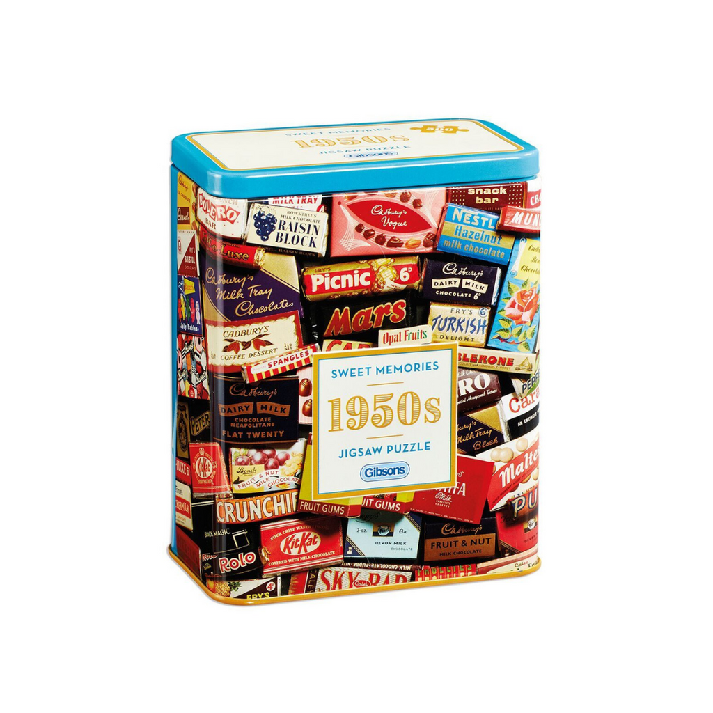 Gibsons 500pc 1950s Sweet Memories Gift Tin-Gibsons-booksrusandmore
