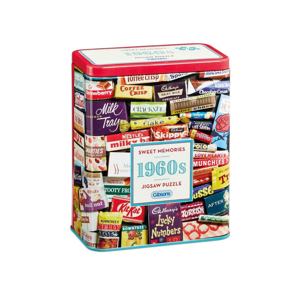 Gibsons 500pc Puzzle in Tin Sweet Memories 1960s-Gibsons-booksrusandmore