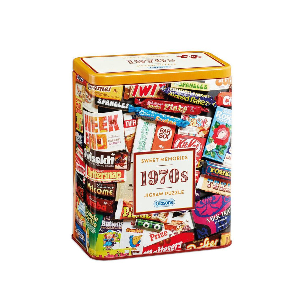 Gibsons 500pc Puzzle in Tin Sweet Memories 1970s-Gibsons-booksrusandmore