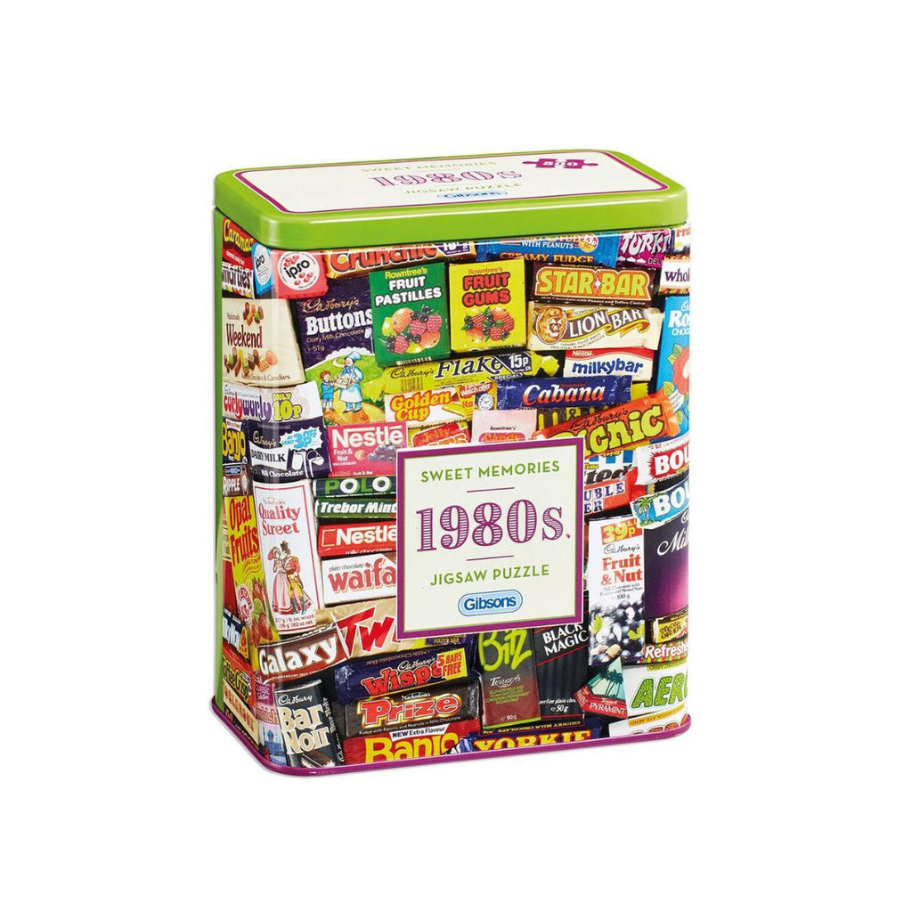 Gibsons 500pc Puzzle in Tin Sweet Memories 1980s-Gibsons-booksrusandmore