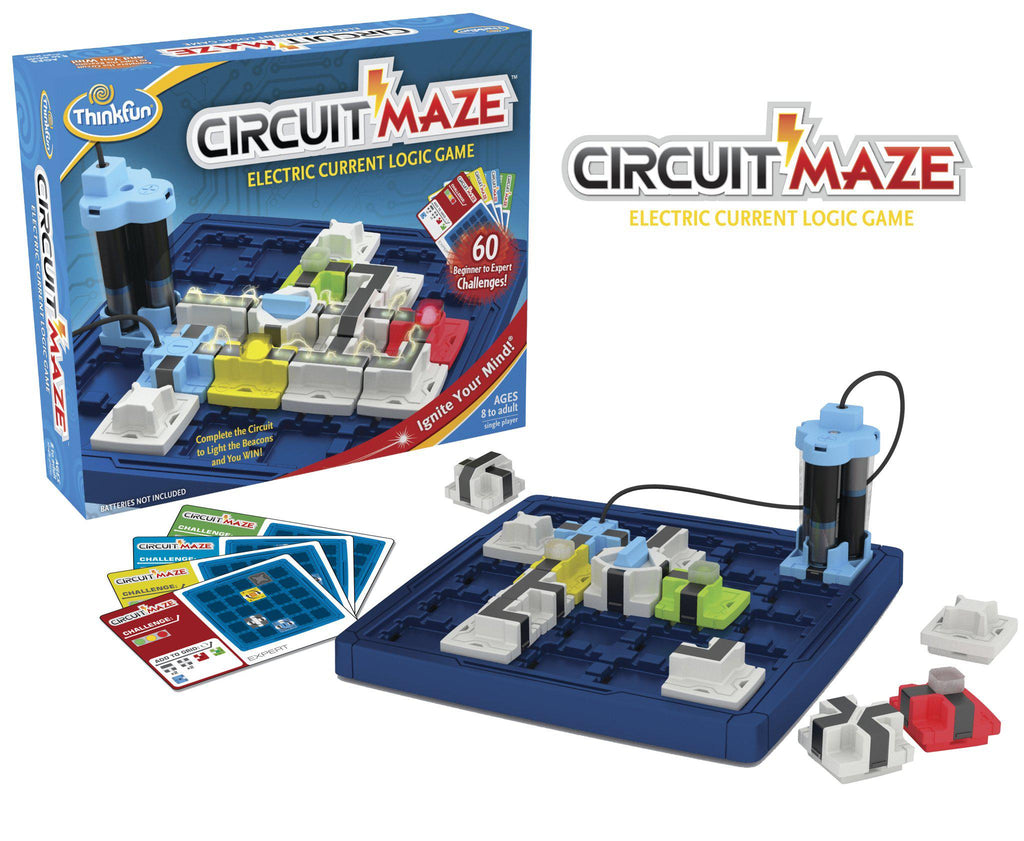 Thinkfun Circuit Maze Electric Current Logic Game-Modern Brands-booksrusandmore