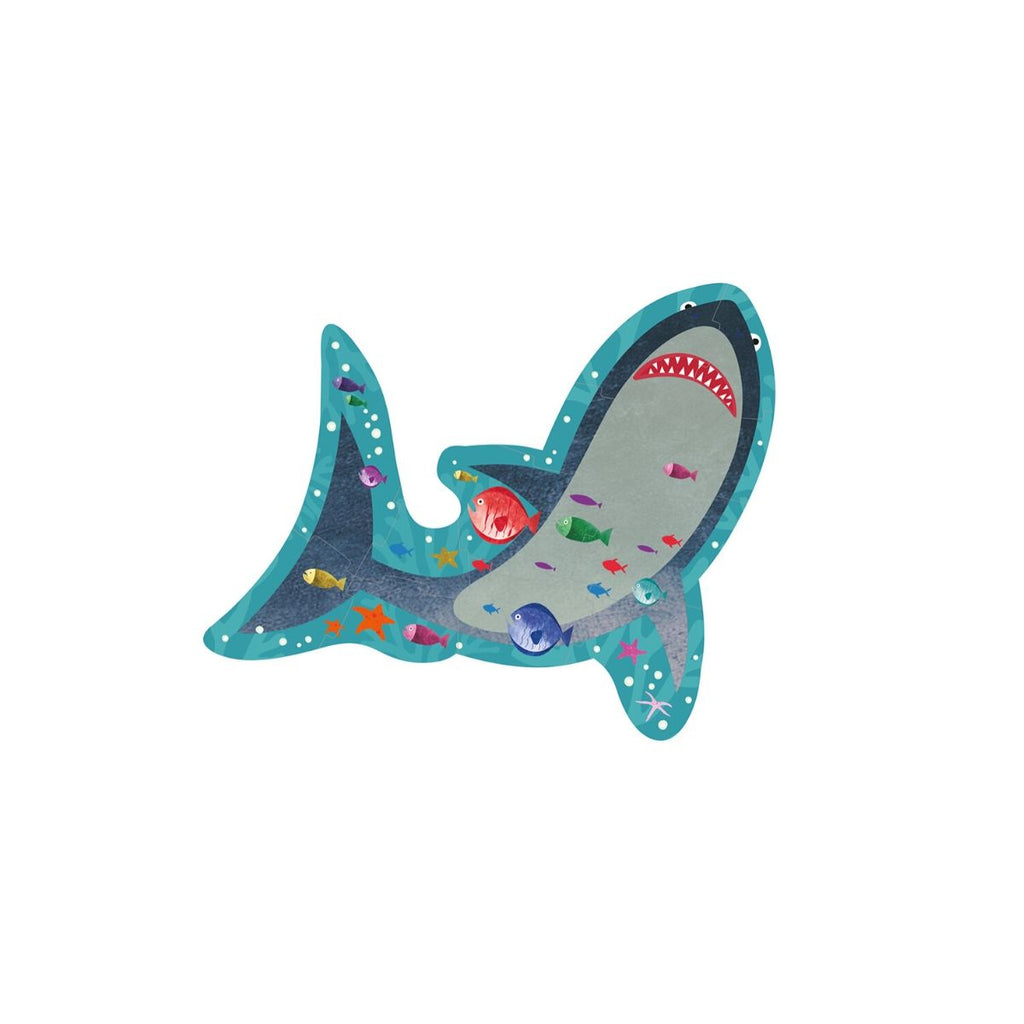 Floss & Rock 12 pc Shaped Puzzle -  Shark