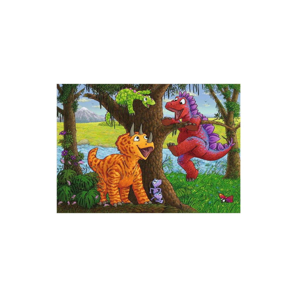 Ravensburger 2 x 24pc Puzzles Dinosaurs at play