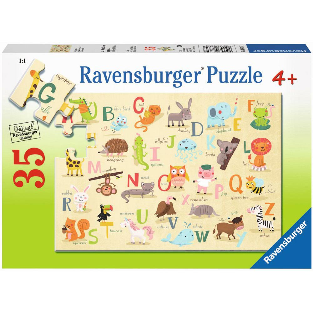 Ravensburger 35pc Puzzle A-Z Animals-Modern Brands-booksrusandmore