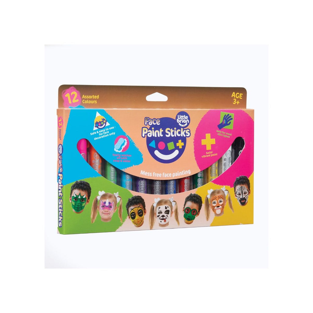 Little Brian Face Paint Sticks 12 pack