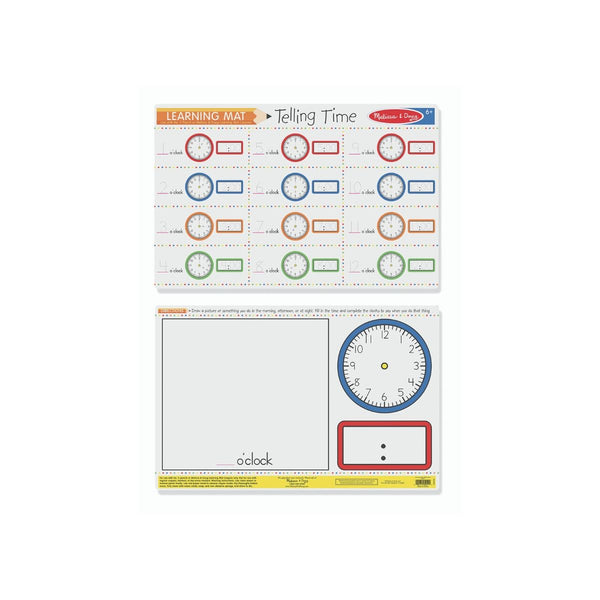 Melissa and Doug Learning Mat Telling Time