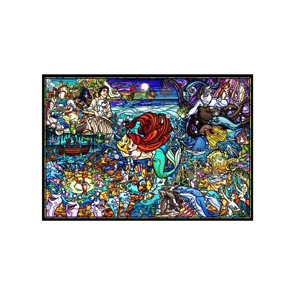 Tenyo Disney the Little Mermaid Story Stained Glass Puzzle 1,000 piece