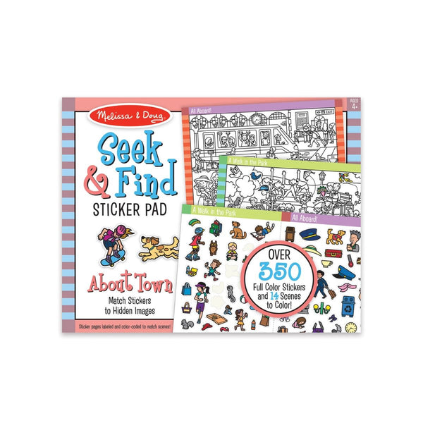 Melissa and Doug - Seek and Find Sticker Pad Around Town