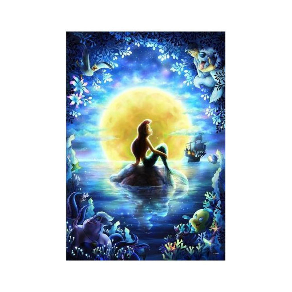 Tenyo Disney Little Mermaid's Moon Night Pray Puzzle 500 pieces-VR Distribution-booksrusandmore