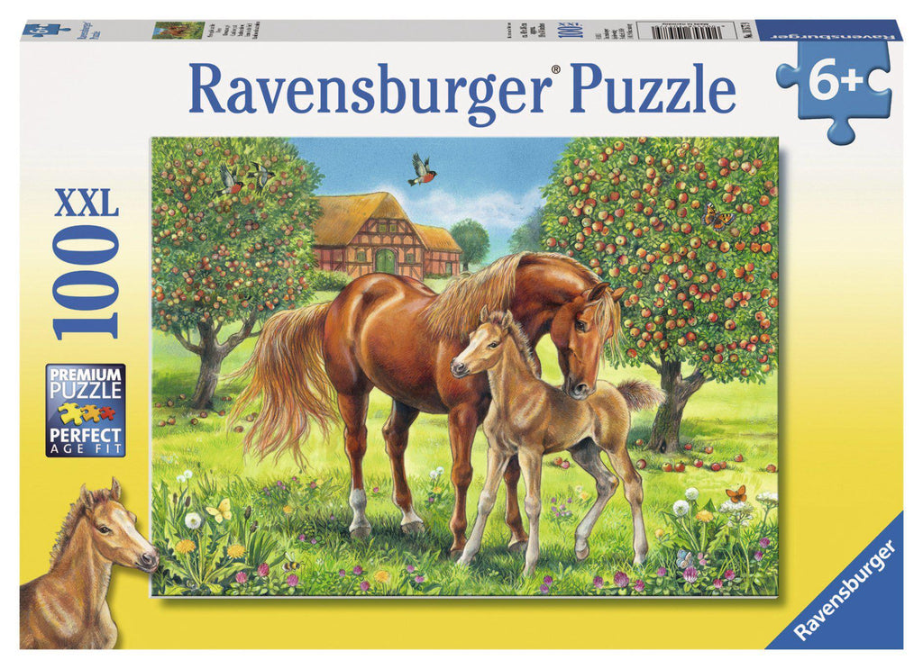 Ravensburger 100pc Puzzle Horses in the Field-Modern Brands-booksrusandmore