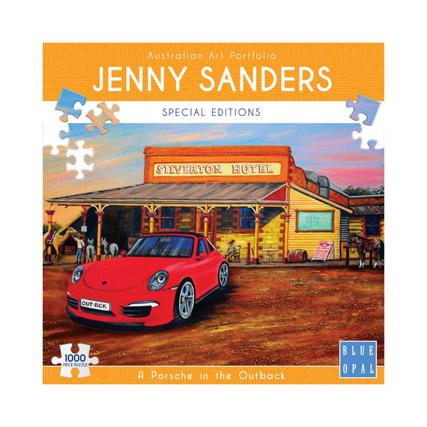 Blue Opal 1000pc Puzzle Jenny Sanders Special Editions A Porsche in the Outback-Modern Brands-booksrusandmore