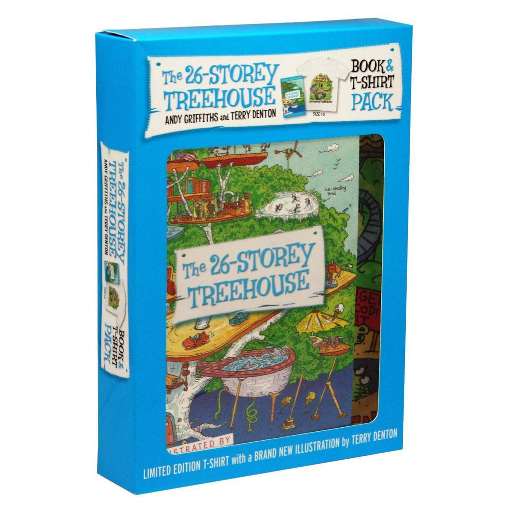 Andy Griffiths - The 26-Storey Treehouse Book And T-Shirt-Herron-booksrusandmore
