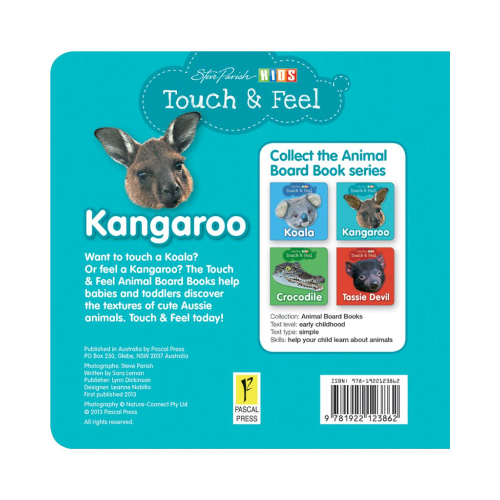 Steve Parish Touch & Feel Kangaroo-Pascal Press-booksrusandmore