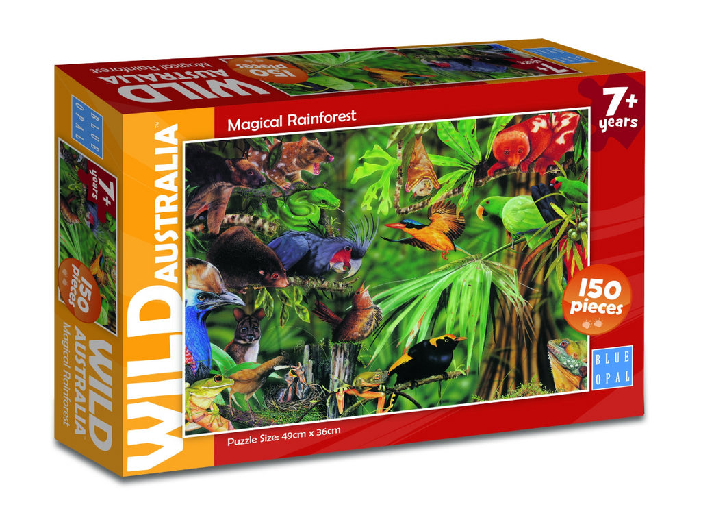 Blue Opal 150pc Puzzle Wild Australia Magical Rainforest-Modern Brands-booksrusandmore