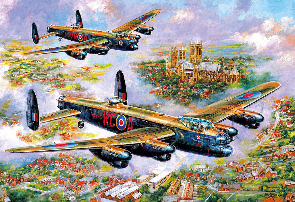Gibsons 500pc Puzzle Lancasters Over Lincoln-Gibsons-booksrusandmore