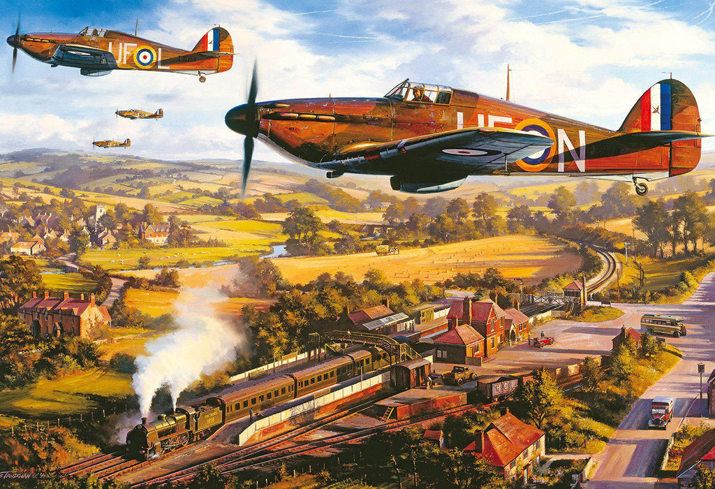 Gibsons 500pc Puzzle Tangmere Hurricanes-Gibsons-booksrusandmore