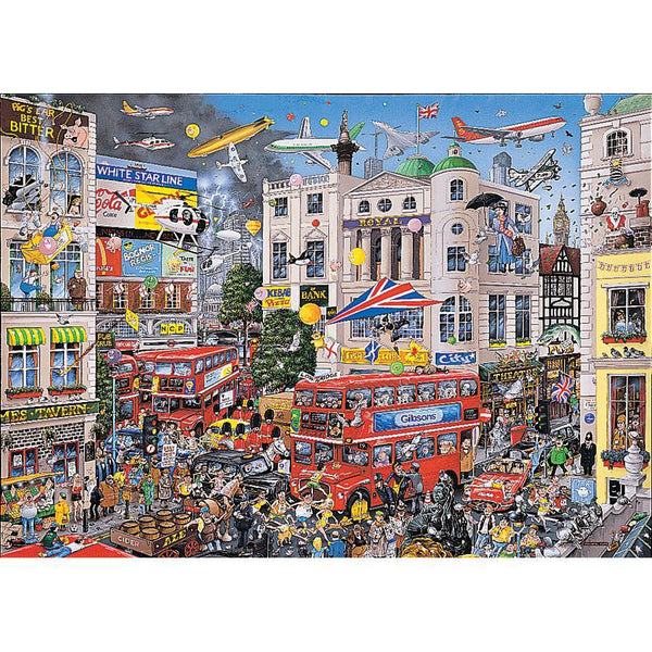 Gibsons 1000pc Puzzle I Love London-Gibsons-booksrusandmore
