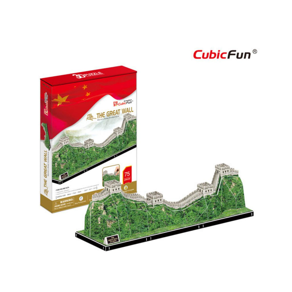 CubicFun 3D Puzzle World's Great Architecture The Great Wall 75pc-AMLiving-booksrusandmore
