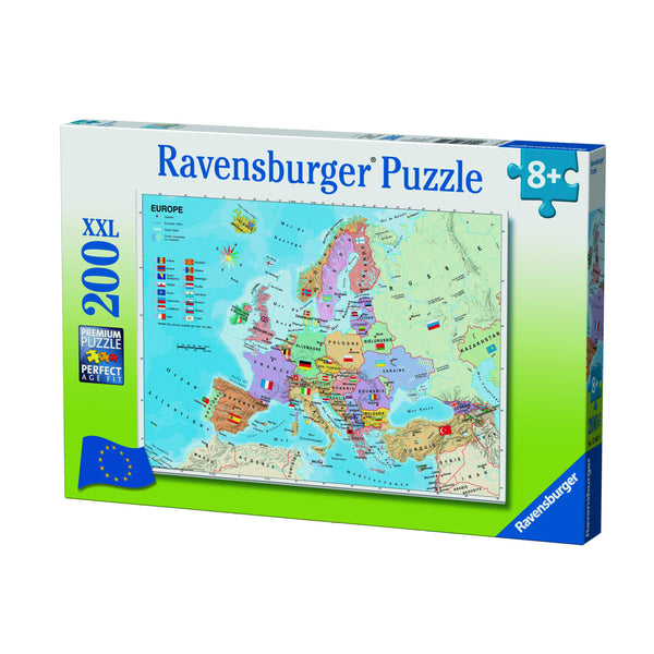 Ravensburger 200pc Puzzle World Map With Flags-Ravensburger-booksrusandmore