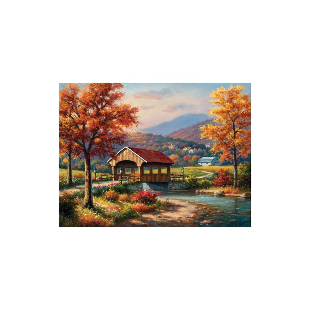Sunsout Covered Bridge in Fall 500 XXL pc