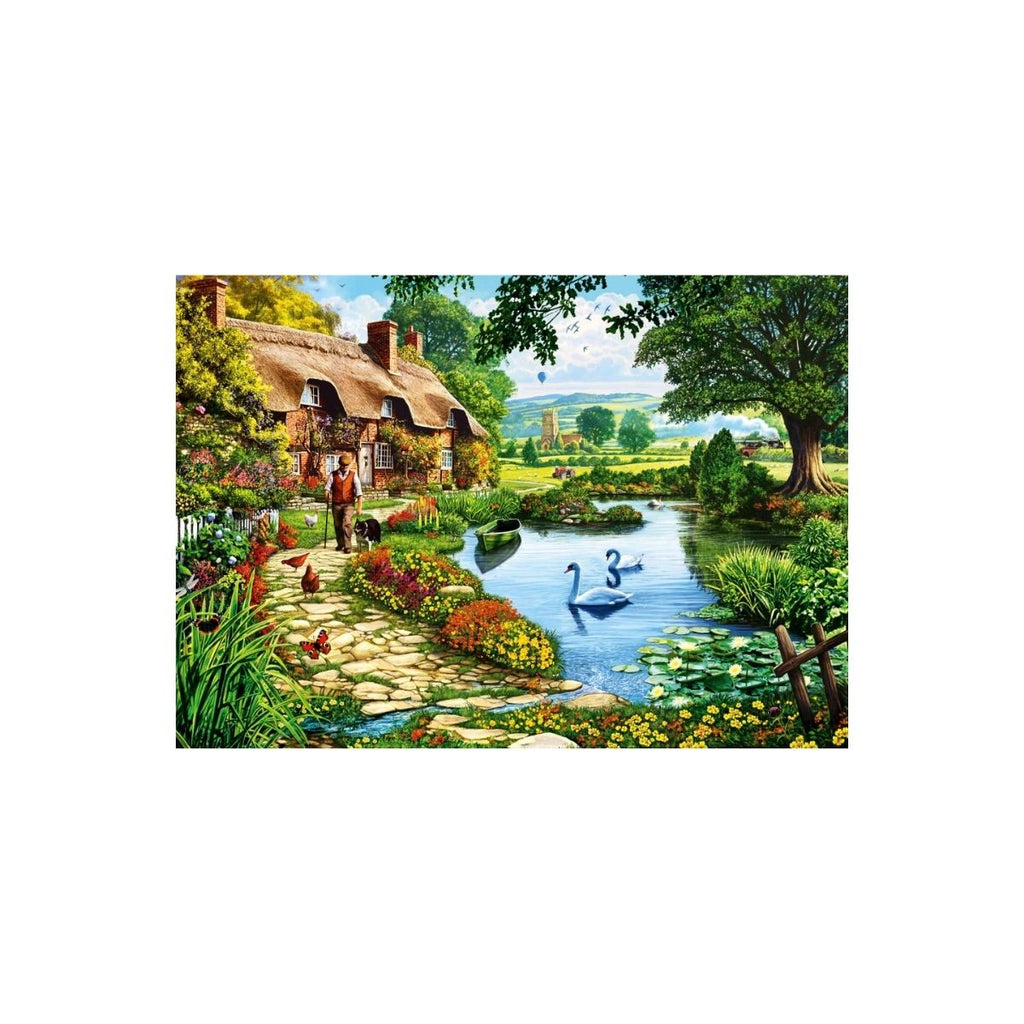 Bluebird Puzzle Cottage by the Lake