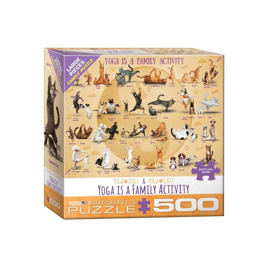 Eurographics XXL Pieces Yoga is a Family Activity 500pc