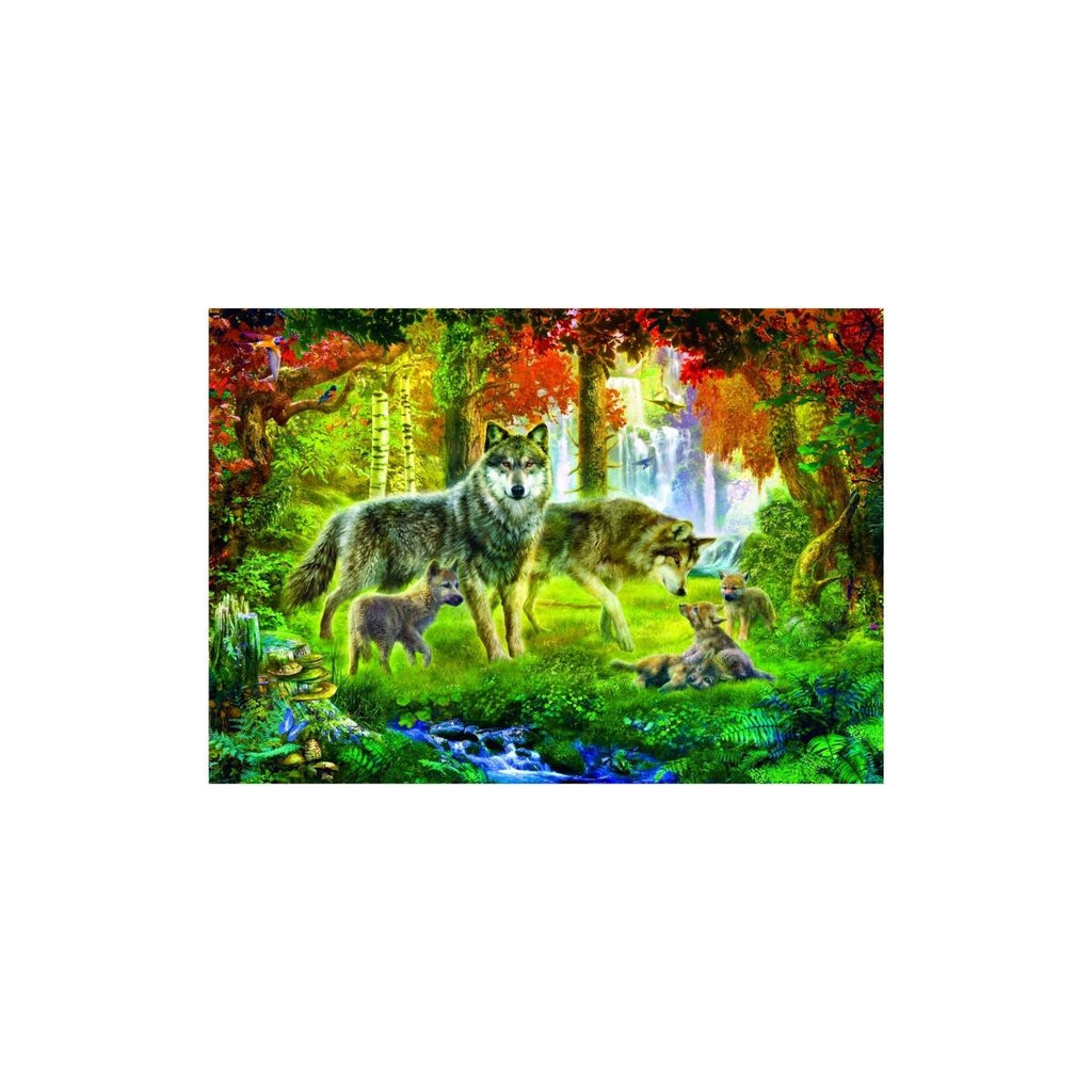 Bluebird Puzzle Summer Wolf Family 1