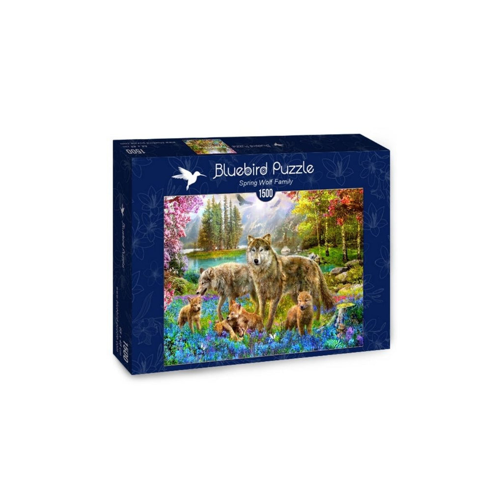 Bluebird Puzzle Spring Wolf Family 15