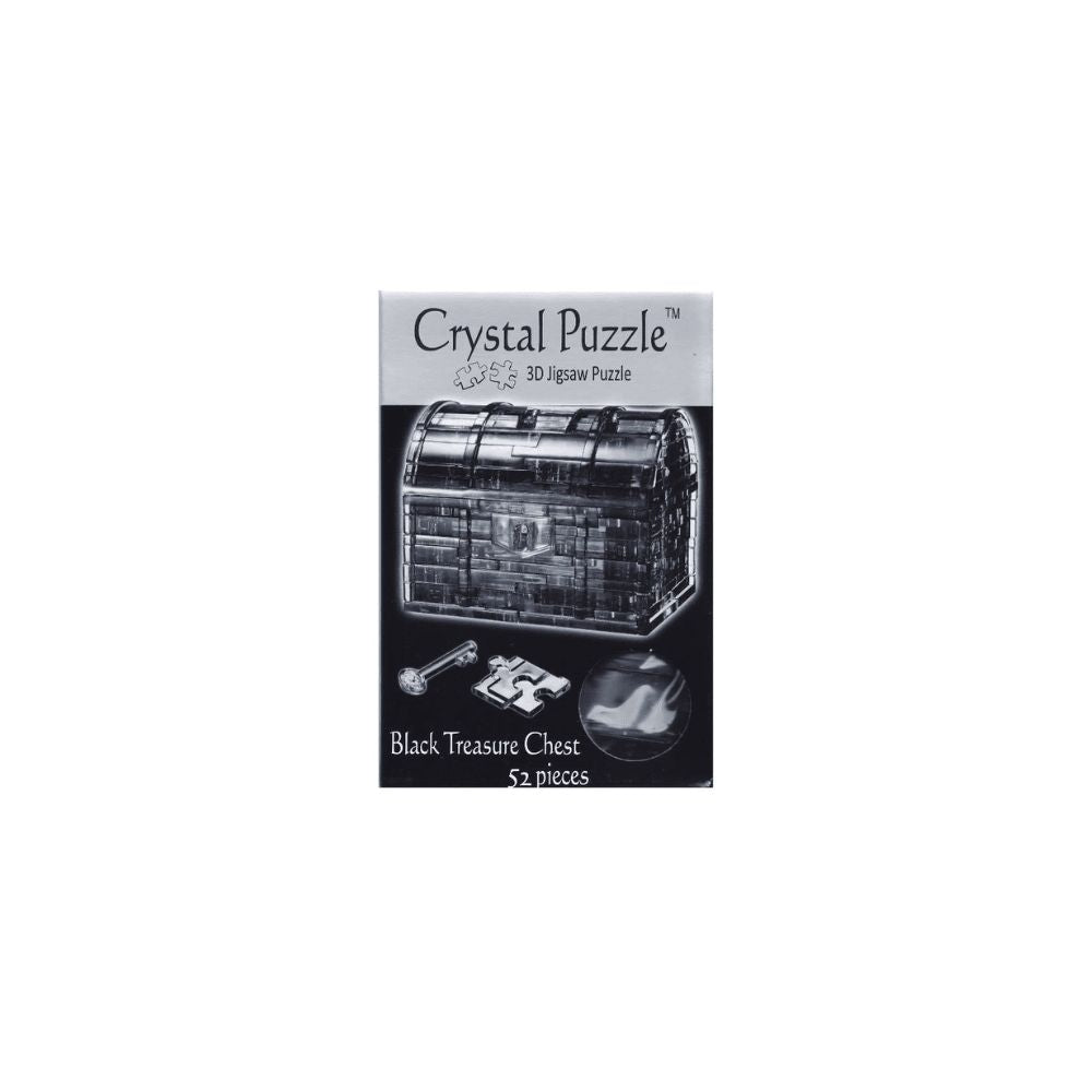 3D Crystal Puzzle - Black Treasure Chest 52pc