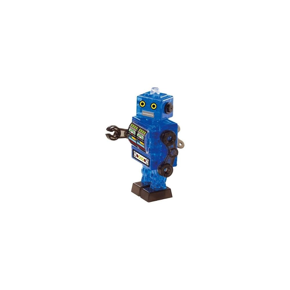 3D Crystal Puzzle - Blue Tin Robot 39pc