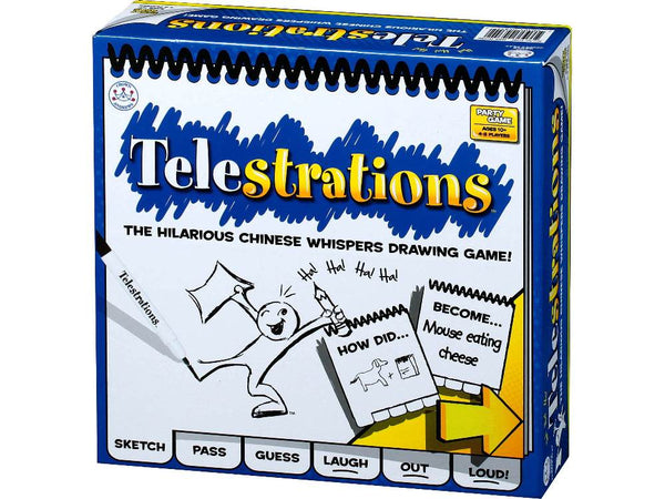 Telestrations The Hilarious Chinese Whispers Drawing Game!-Jedko-booksrusandmore